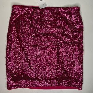 H&M NWT hot pink sparkle skirt